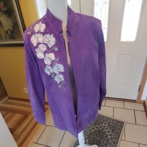 Bob Mackie Leather wearable art jacket